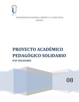proyecto académico pedagógico solidario
