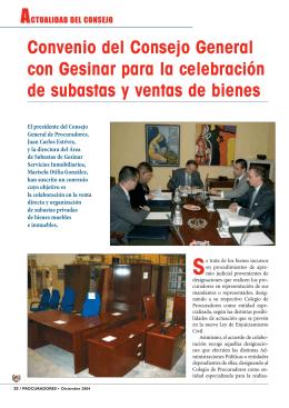Convenio del Consejo General con Gesinar para la celebración de