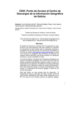 CDIX: Punto de Acceso al Centro de Descargas de la