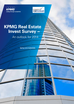 KPMG Real Estate Invest Survey