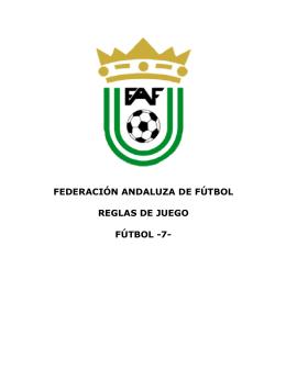 FEDERACIÓN ANDALUZA DE FÚTBOL REGLAS DE