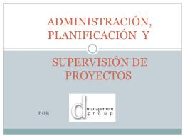 propuesta de supervisión de proyectos y