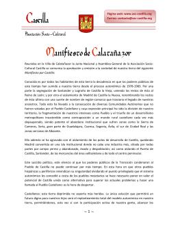 Manifiesto de Calatañazor - Asociación Socio