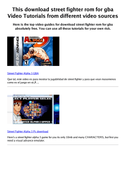 #Z street fighter rom for gba PDF video books