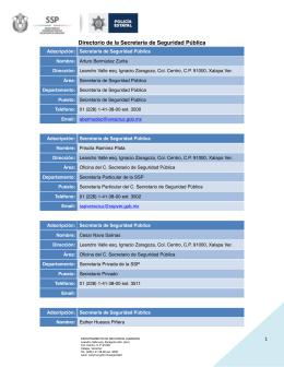 Directorio SSP 2015 JULIO(2) - Gobierno del Estado de Veracruz