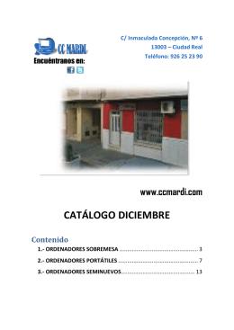 CATÁLOGO DICIEMBRE