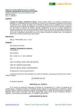STSJ de Cataluña, Sala de lo Social, de 15 de