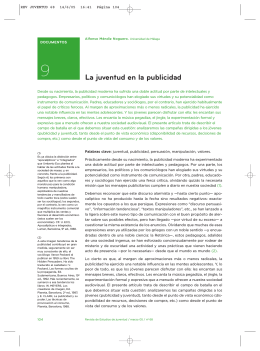 9. La juventud en la publicidad. Alfonso Méndiz Noguero