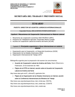 TEMARIO - Secretaría del Trabajo y Previsión Social