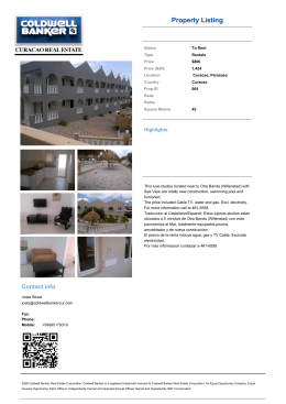 Property Listing - Curacao Real Estate