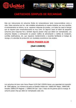 CARTUCHOS SIMPLES DE RECARGAR