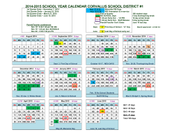 2014-2015 school year calendar corvallis school district #1