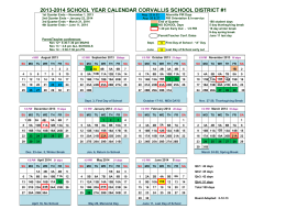 2013-2014 school year calendar corvallis school district #1