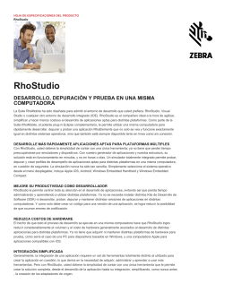 RhoStudio Spec Sheet - Spanish - Zebra Technologies Corporation