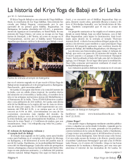 La historia del Kriya Yoga de Babaji en Sri Lanka
