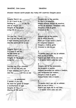 IMAGINE, John Lennon IMAGINA dreamer-Heaven