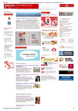 9/11/2014 Instituto Cervantes di Palermo: apprendere spagnolo