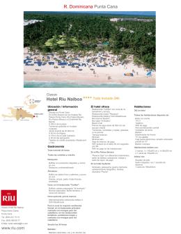 Hotel Riu Naiboa R. Dominicana Punta Cana