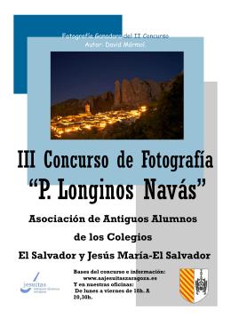 III Concurso de Fotograf\355a P. Longinos Nav\341s