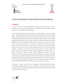 La Carta de los Municipios Turístico Vitivinícolas de Bierzo Enoturismo