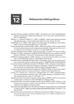 12. Referencias bibliográficas 13. Legislación y normativa