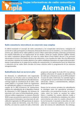 Alemania - Nachrichtenpool Lateinamerika eV