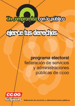 Programa electoral FSAP-CCOO