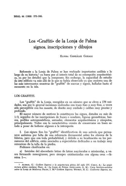 Los «Graffiti» de la Lonja de Palma signos, inscripciones y dibujos