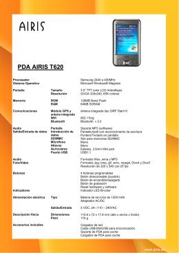 PDA AIRIS T620