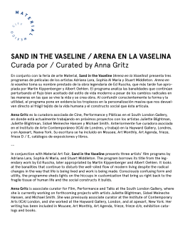 sand in the vaseline / arena en la vaselina