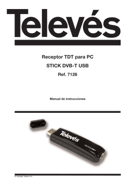 Receptor TDT para PC STICK DVB-T USB Ref. 7126