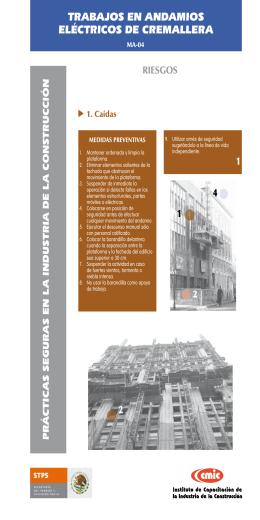 Trabajos en andamios eléctricos de cremallera (MA-04)