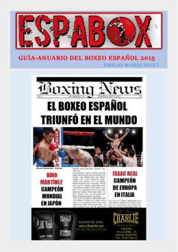 GUÍA-ANUARIO DEL BOXEO ESPAÑOL 2015