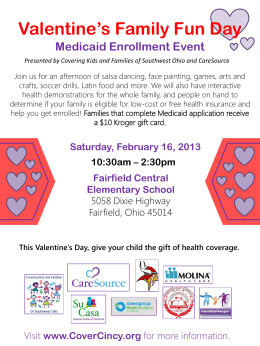Valentine`s Family Fun Day - Fairfield City School District