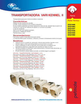 TRANSPORTADORA VARI KENNEL II