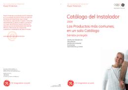 Catálogo del Instalador - GE Power Controls