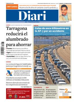 Tarragona reduciráel alumbrado paraahorrar