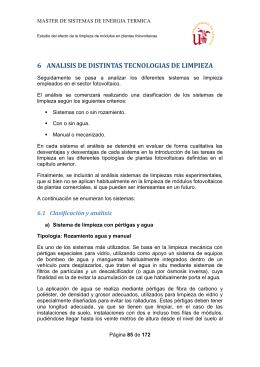 6-ANALISIS DE DISTINTAS TECNOLOGIAS DE LIMPIEZA