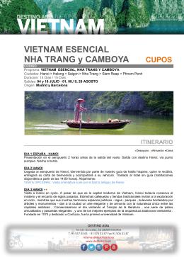 VIETNAM ESENCIAL NHA TRANG y CAMBOYA CUPOS