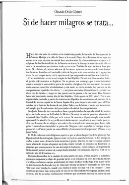 Si de hacer milagros se trata... - Revista de la Universidad de México