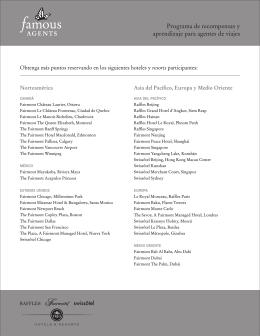 lista de Hoteles Participantes
