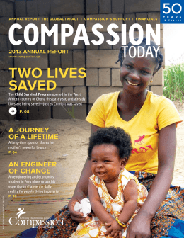 2013 annual report - Compassion Canada