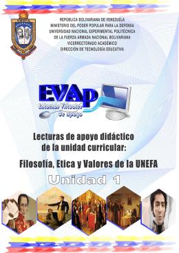Filosofía, Ética y Valores de la UNEFA Unidad 1: Fundamentos del