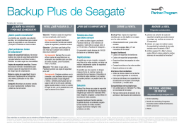 Backup Plus de Seagate®