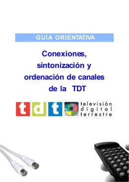 Conexiones, sintonización y ordenación de canales de la TDT