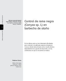 Control de rama negra (Conyza sp. L) en barbecho de