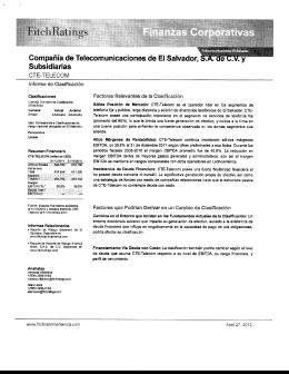 Compañía de Telecomunicaciones de El Salvador, • .