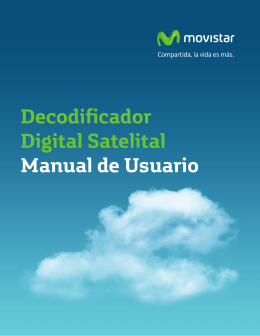 Decodificador Digital Satelital Manual de Usuario
