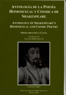 antología de la poesía homosexual y cósmica de shakespeare