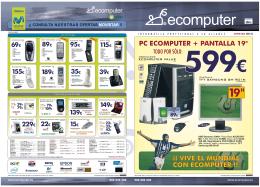 """PC ECOMPUTER + PANTALLA 19"""" ¡¡ VIVE EL MUNDIAL CON"""